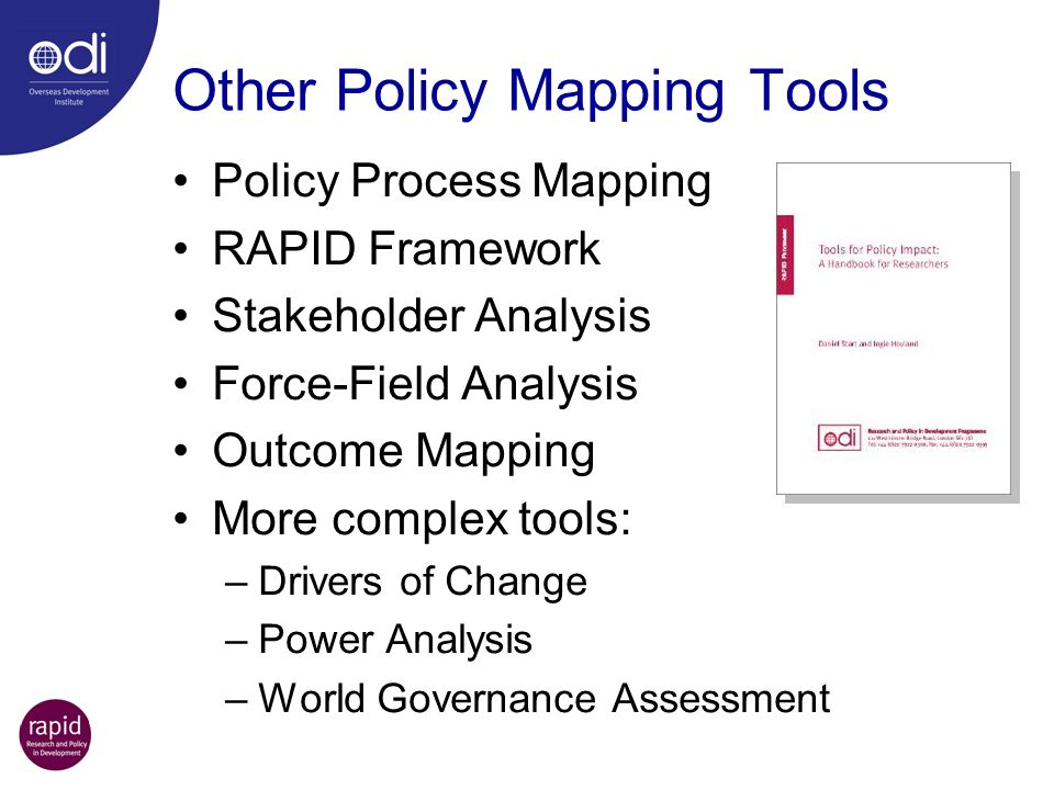 Other Policy Mapping Tools