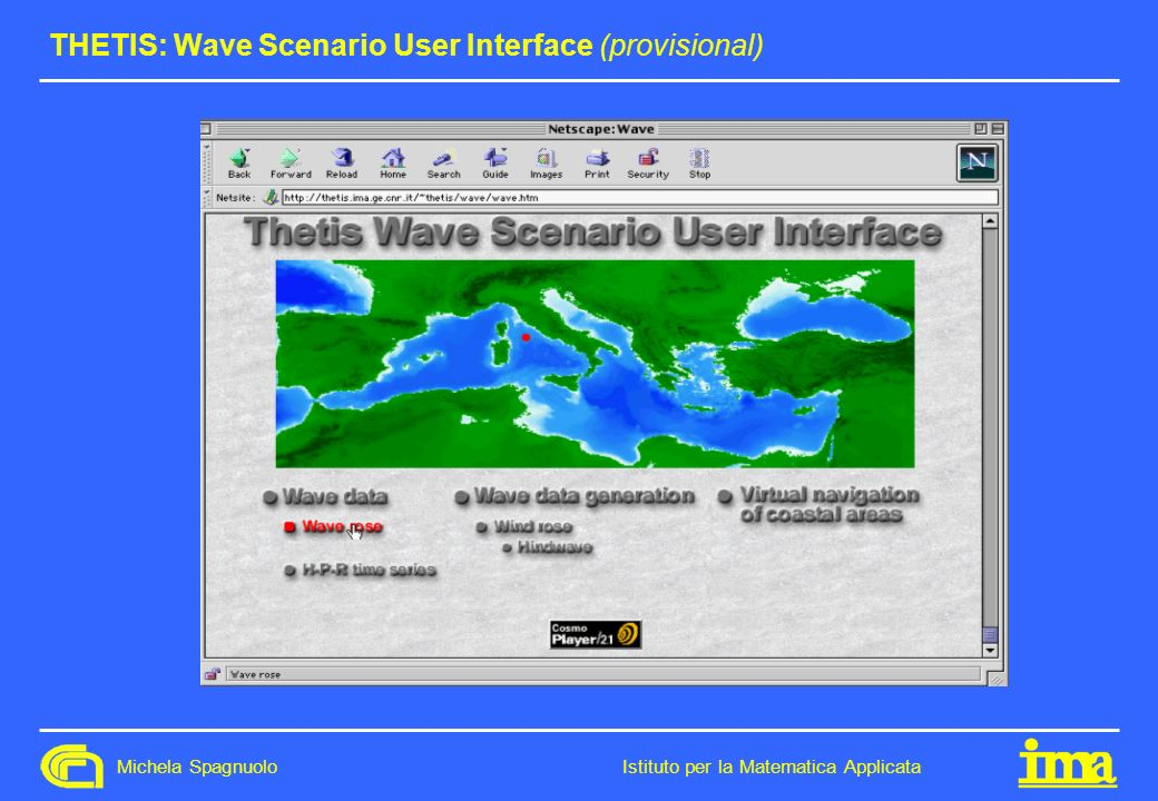 THETIS: Wave Scenario User Interface (provisional)