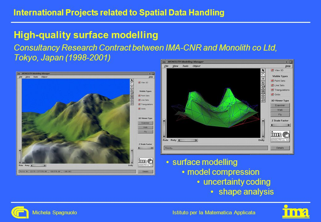 International Projects related to Spatial Data Handling