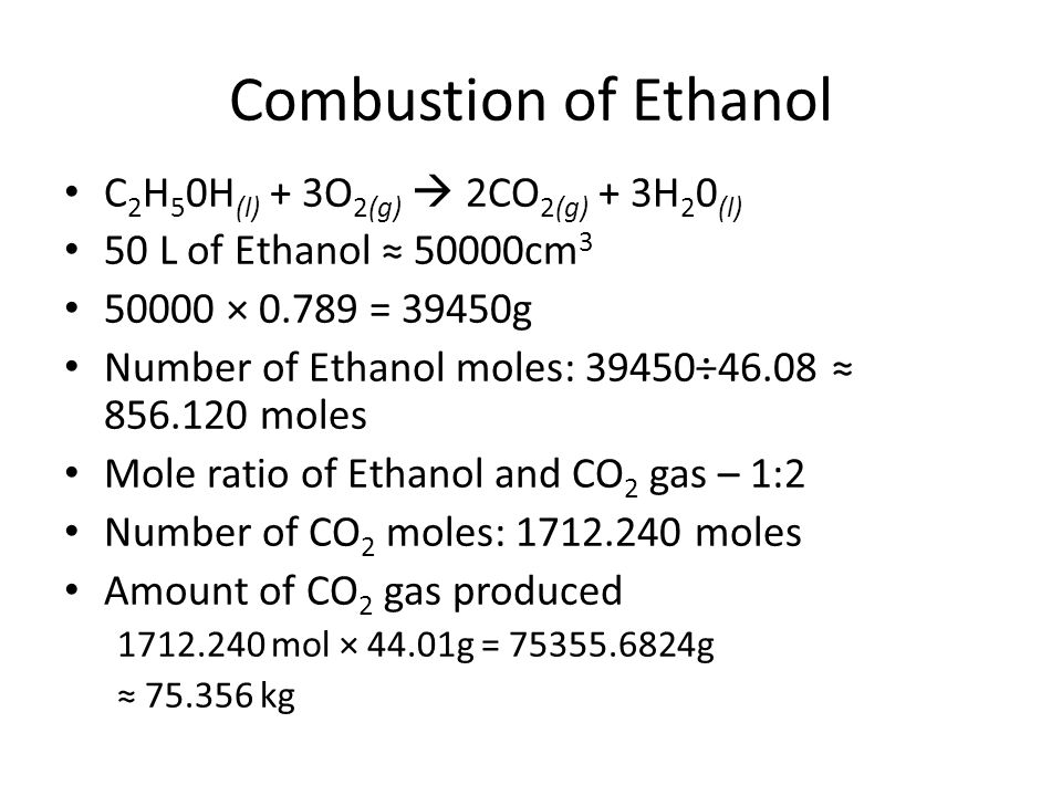 combustion reaction of ethanol - 960×720