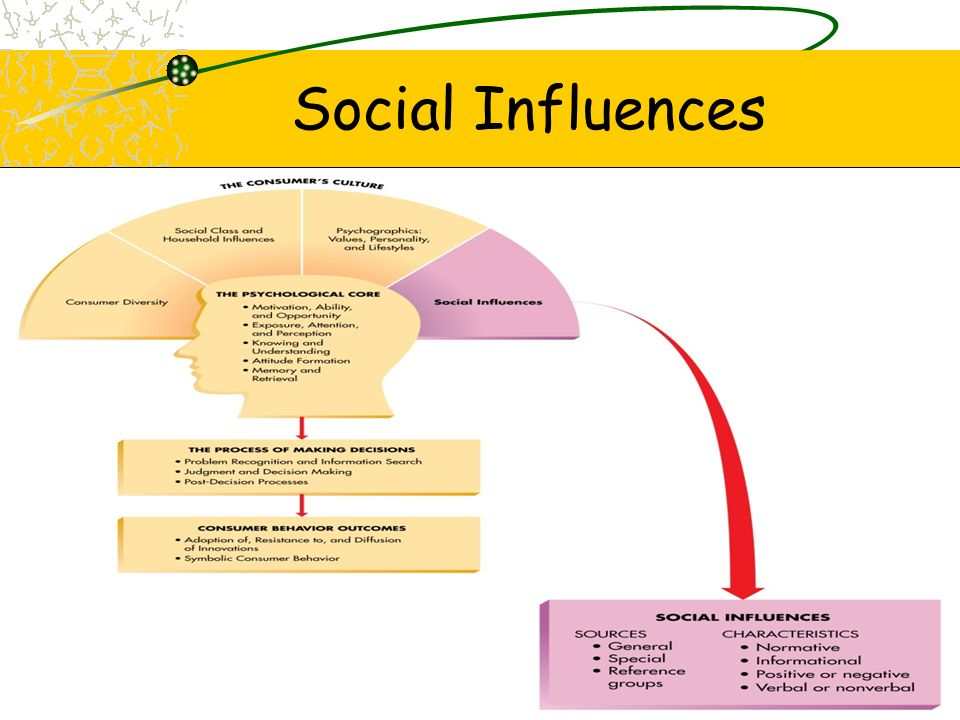 individual and group influences which affect consumer behavior The size of the group influences group performance if, on account of its size, the group has more resources at its disposal, it may be able to perform many independent tasks it may be able to generate more ideas and solutions.