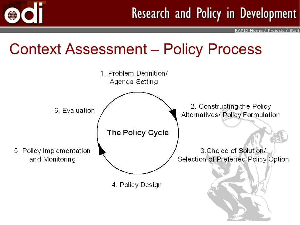 Context Assessment – Policy Process