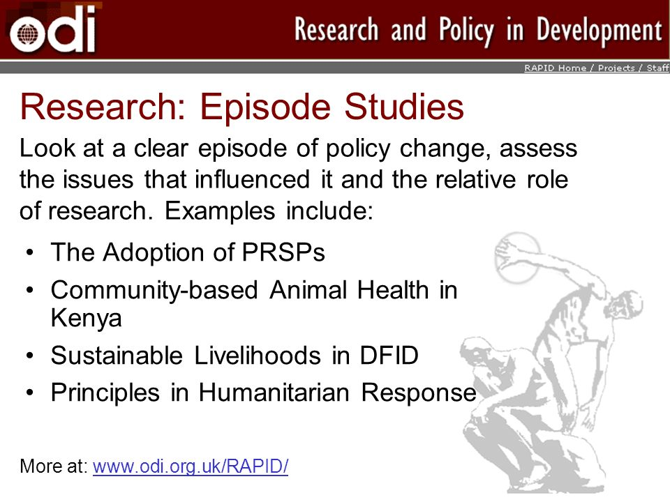 Research: Episode Studies