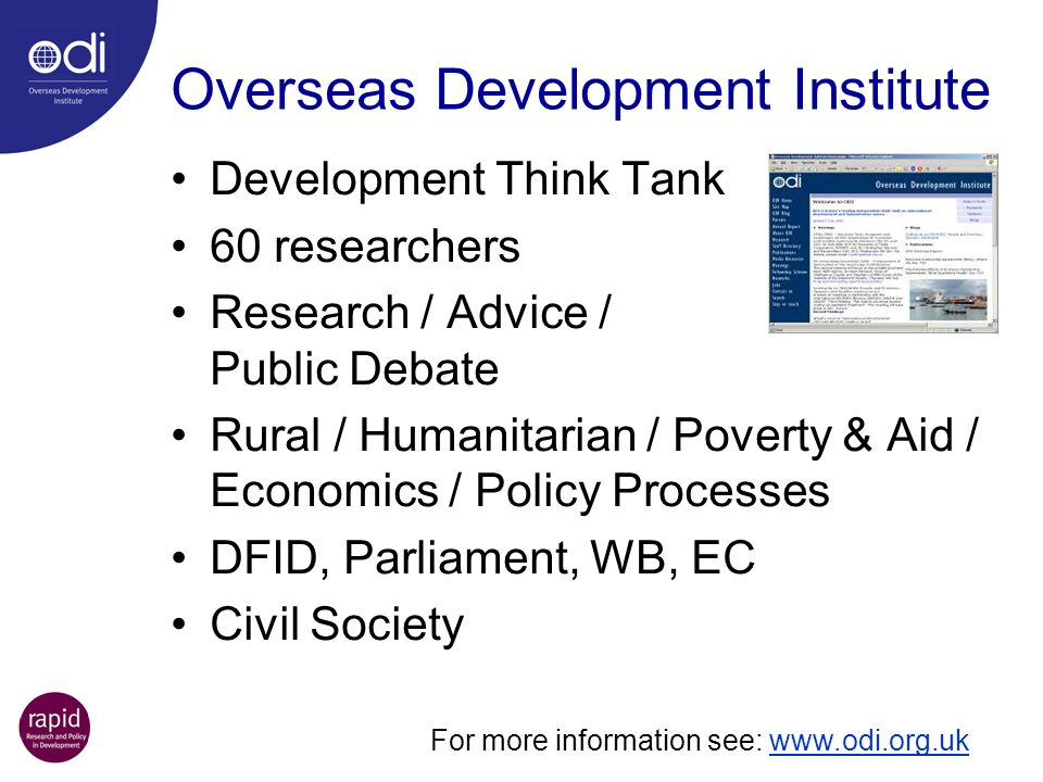 Overseas Development Institute