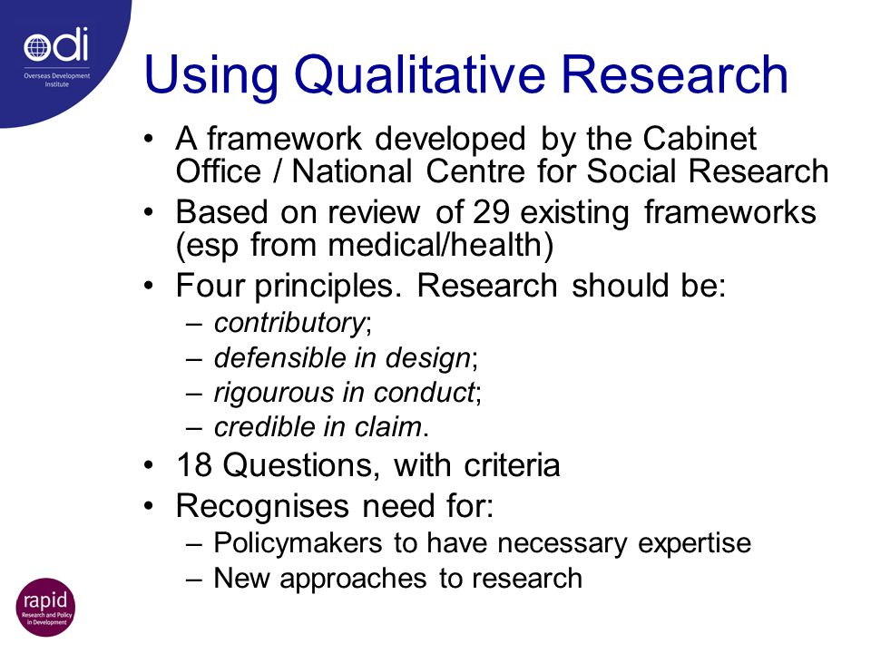 Using Qualitative Research