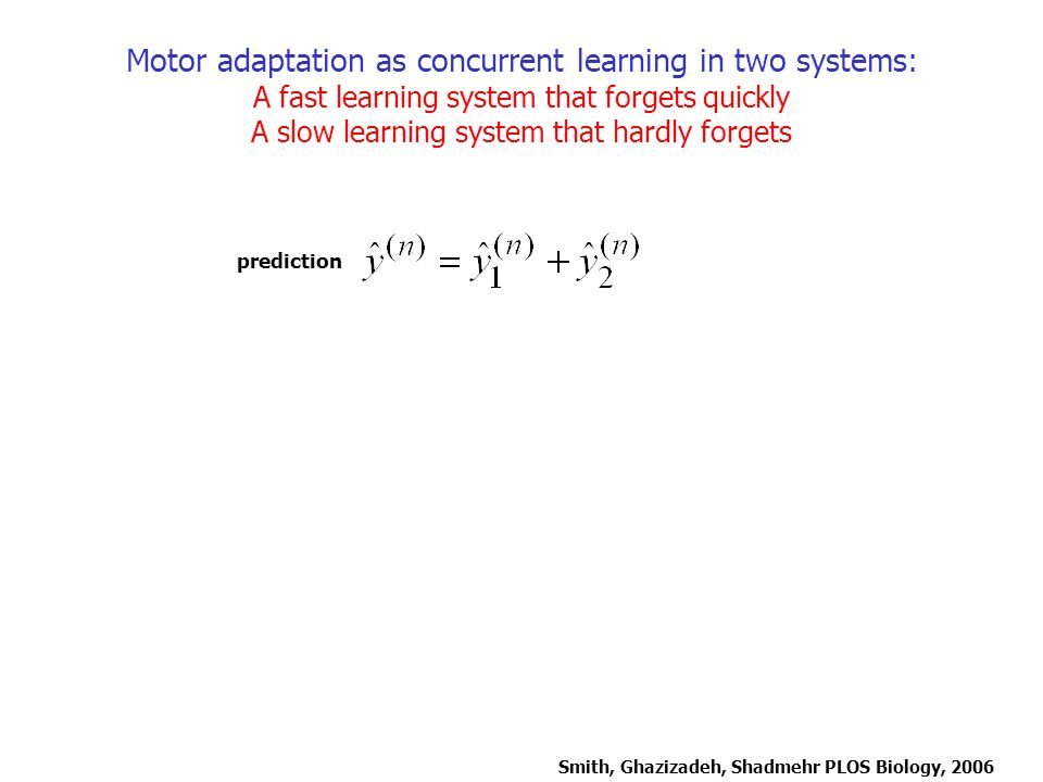 Motor adaptation as concurrent learning in two systems: