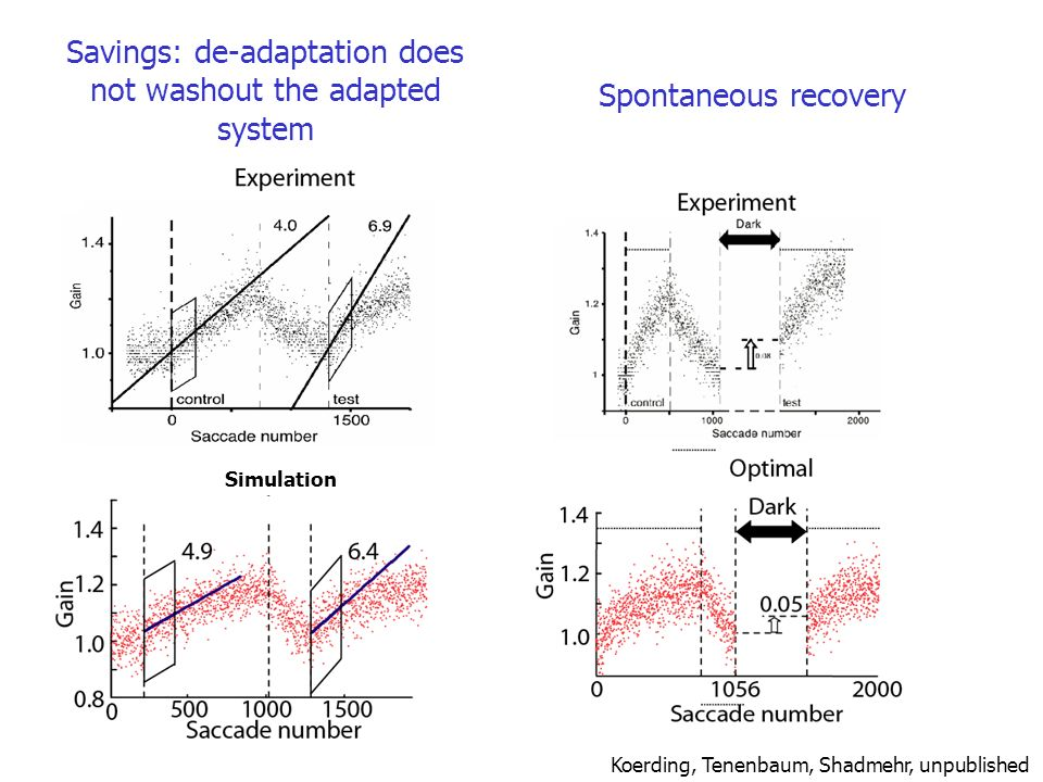Savings: de-adaptation does not washout the adapted system