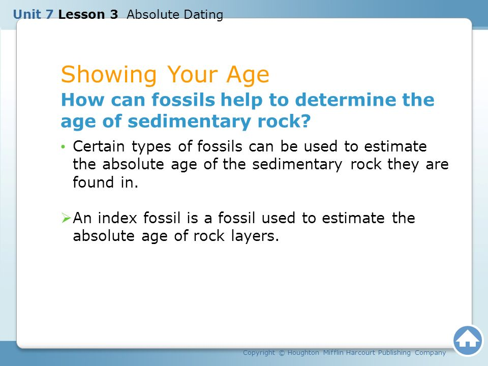 are index fossils used for absolute dating