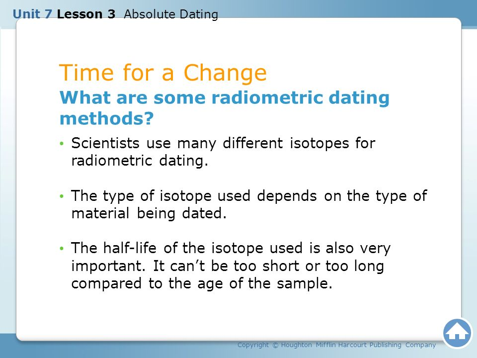 how do scientists use half-lives in radiometric dating