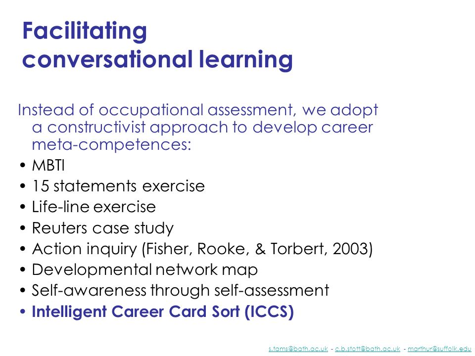 Facilitating conversational learning