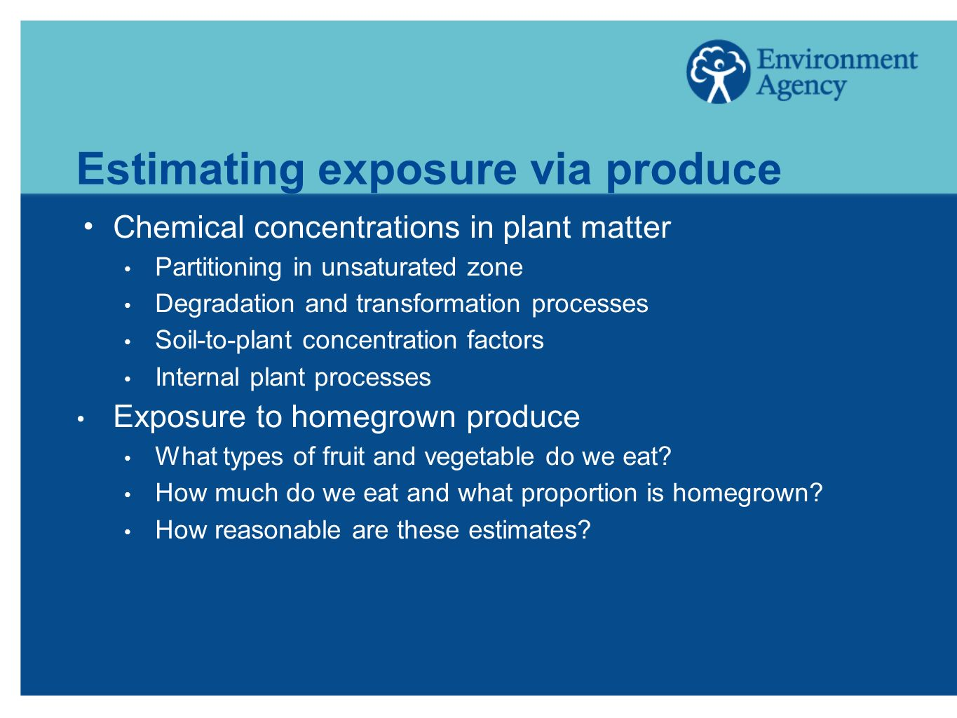 Estimating exposure via produce