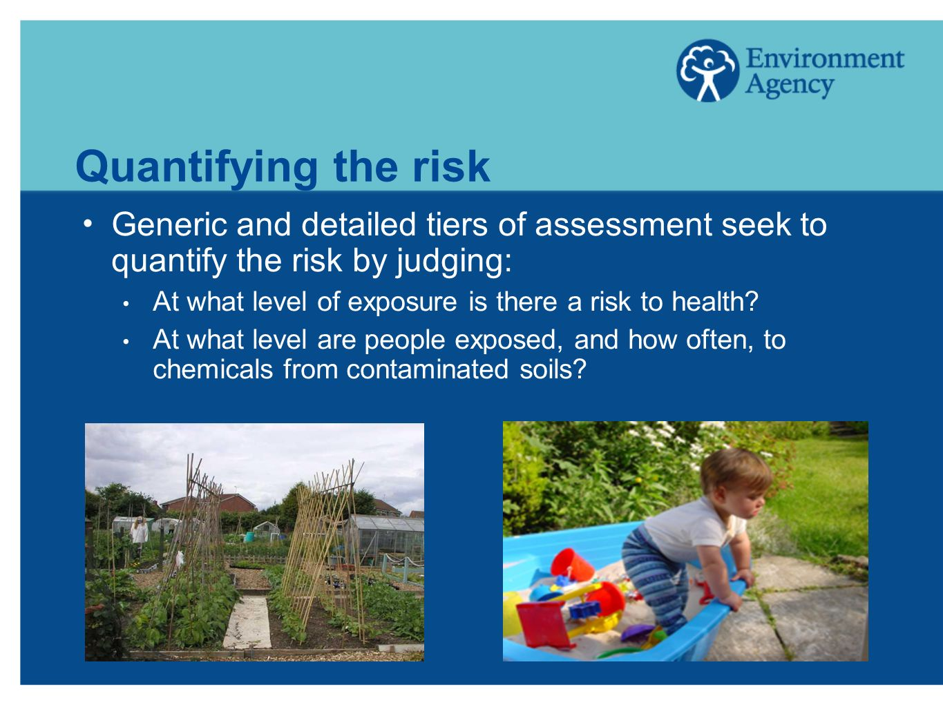 Quantifying the risk Generic and detailed tiers of assessment seek to quantify the risk by judging: