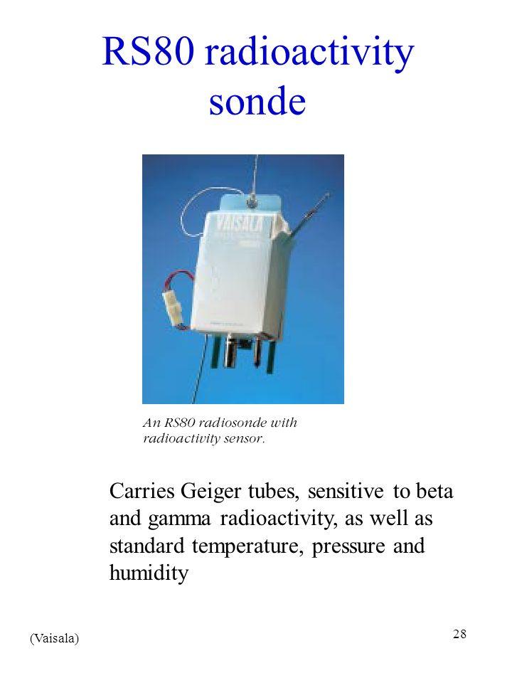 RS80 radioactivity sonde