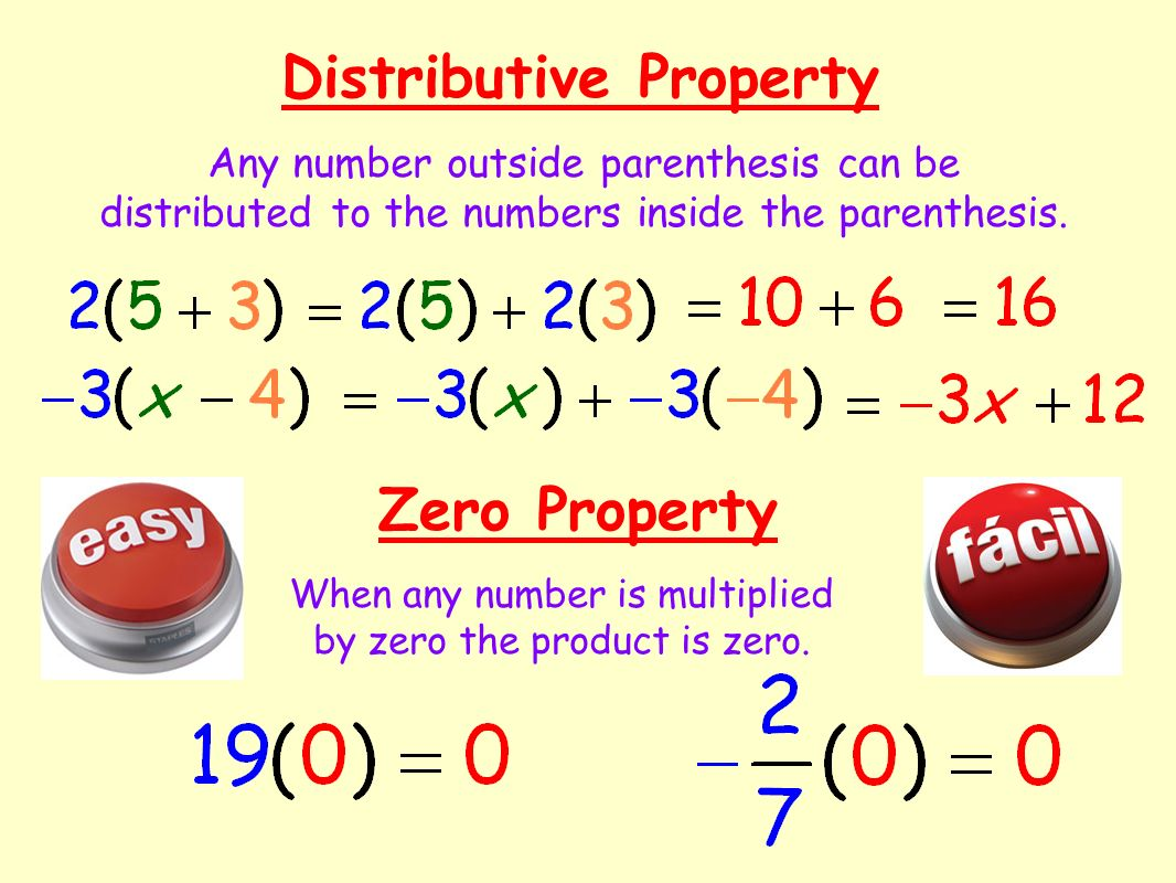 When any number is multiplied by zero the product is zero.