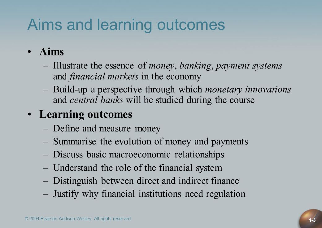 Aims and learning outcomes