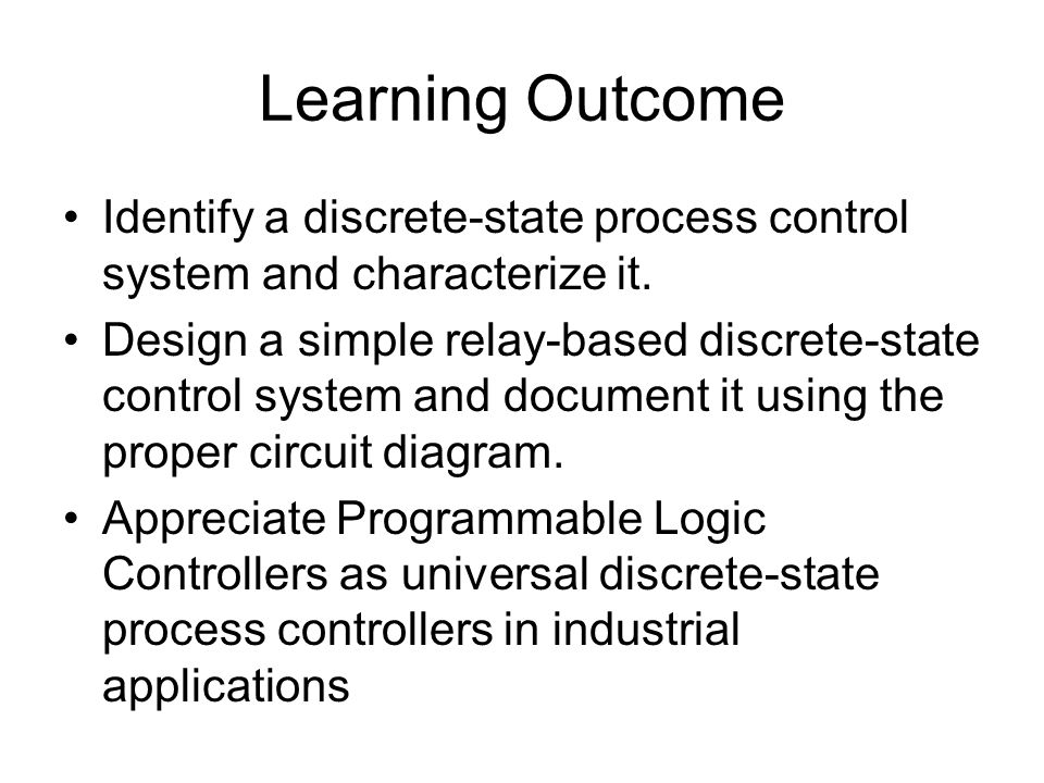 Discrete State Process Control Ppt Video Online Download