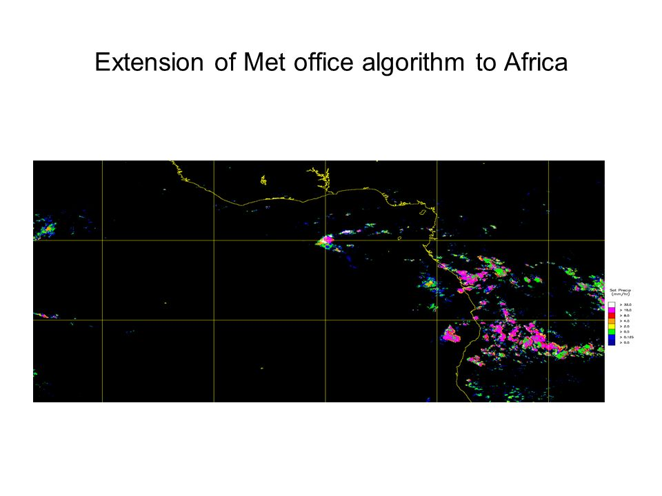 Extension of Met office algorithm to Africa