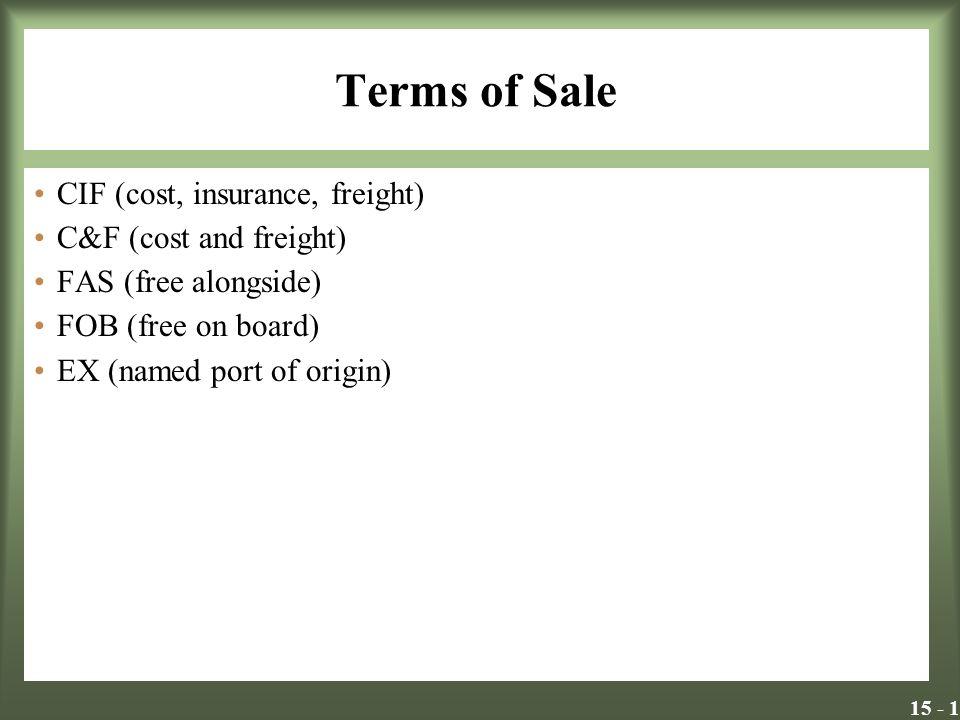c&f price definition