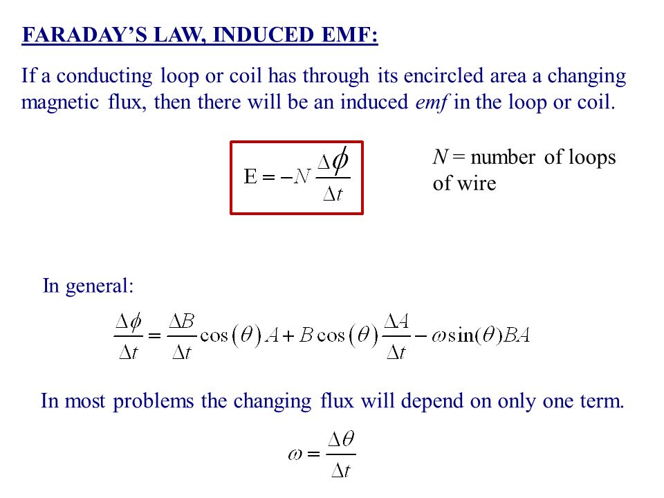 MAGNETIC INDUCTION MAGNETUIC FLUX: FARADAY'S LAW, INDUCED