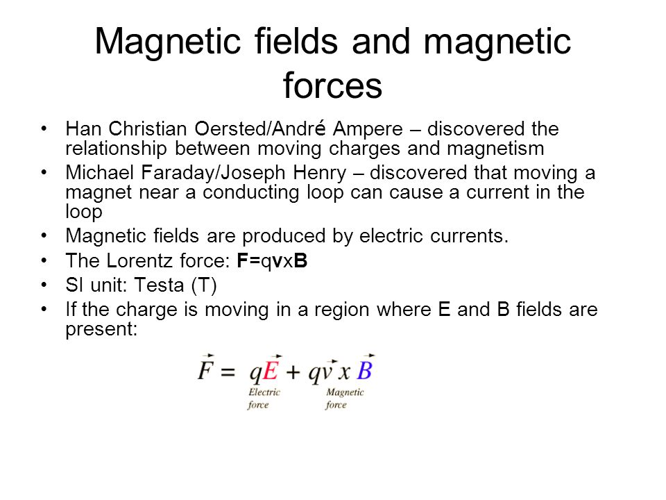 Magnetic fields and magnetic forces - ppt download