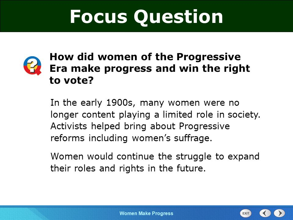 the role of women in 1912