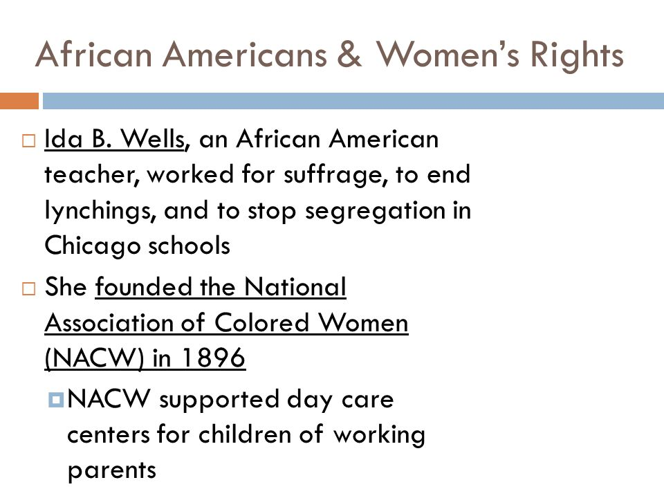 African Americans & Women's Rights