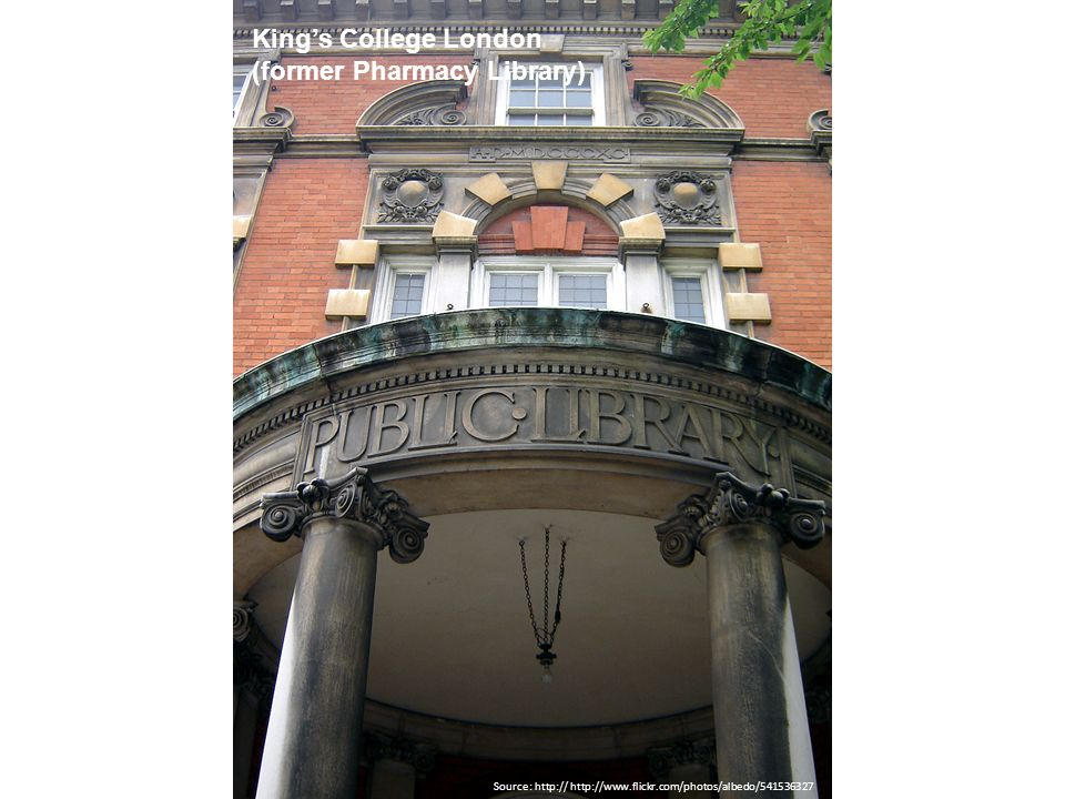King's College London (former Pharmacy Library)