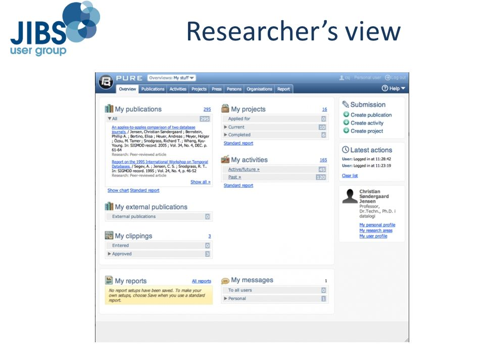 Researcher's view
