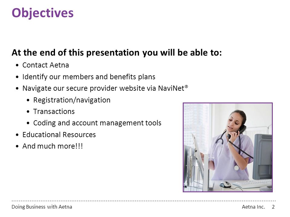 Doing Business with Aetna - ppt download