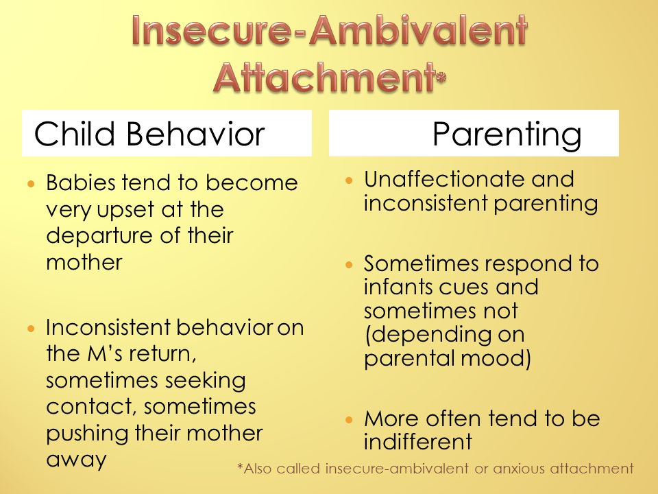 Anxious ambivalent attachment definition