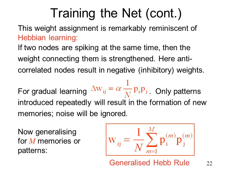 Training the Net (cont.)