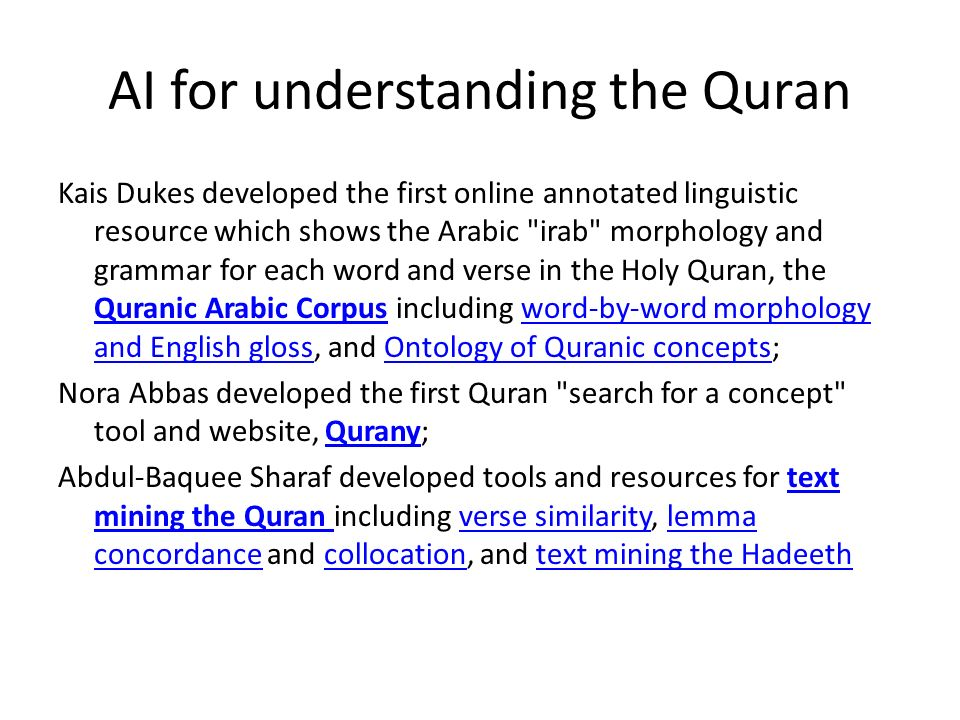 Corpus Linguistics for Understanding the Quran - ppt video