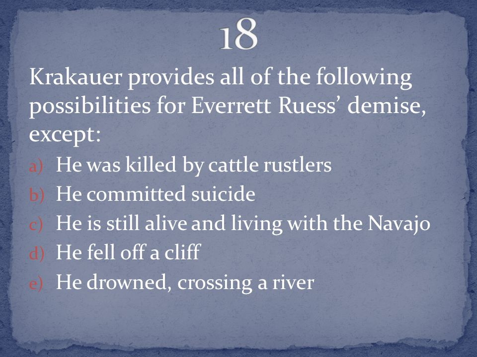 death of an innocent jon krakauer summary
