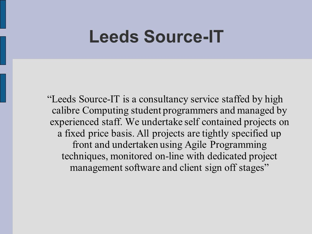 Leeds Source-IT