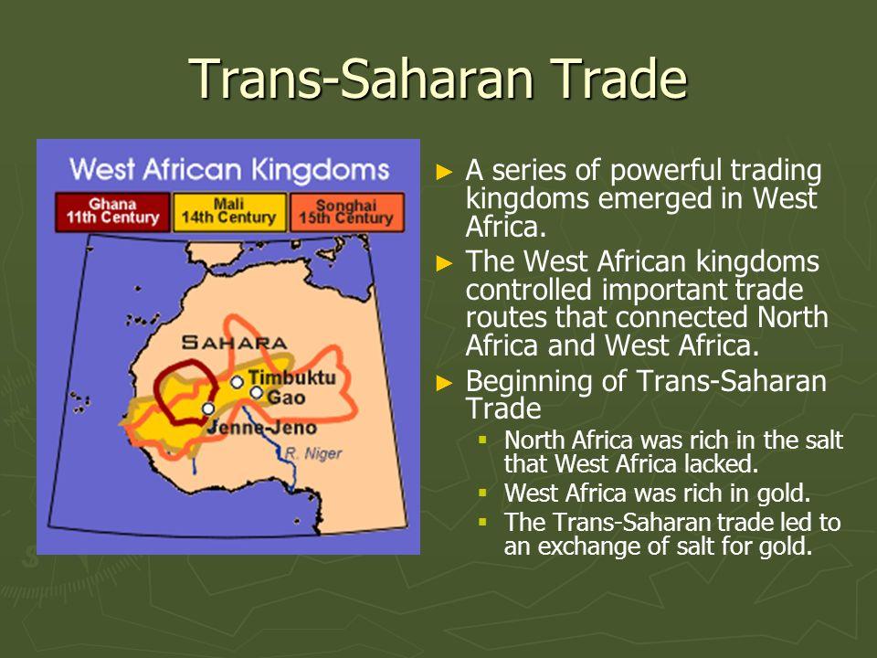 trans saharan trade network