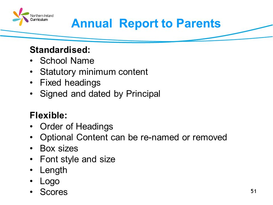 Annual Report to Parents