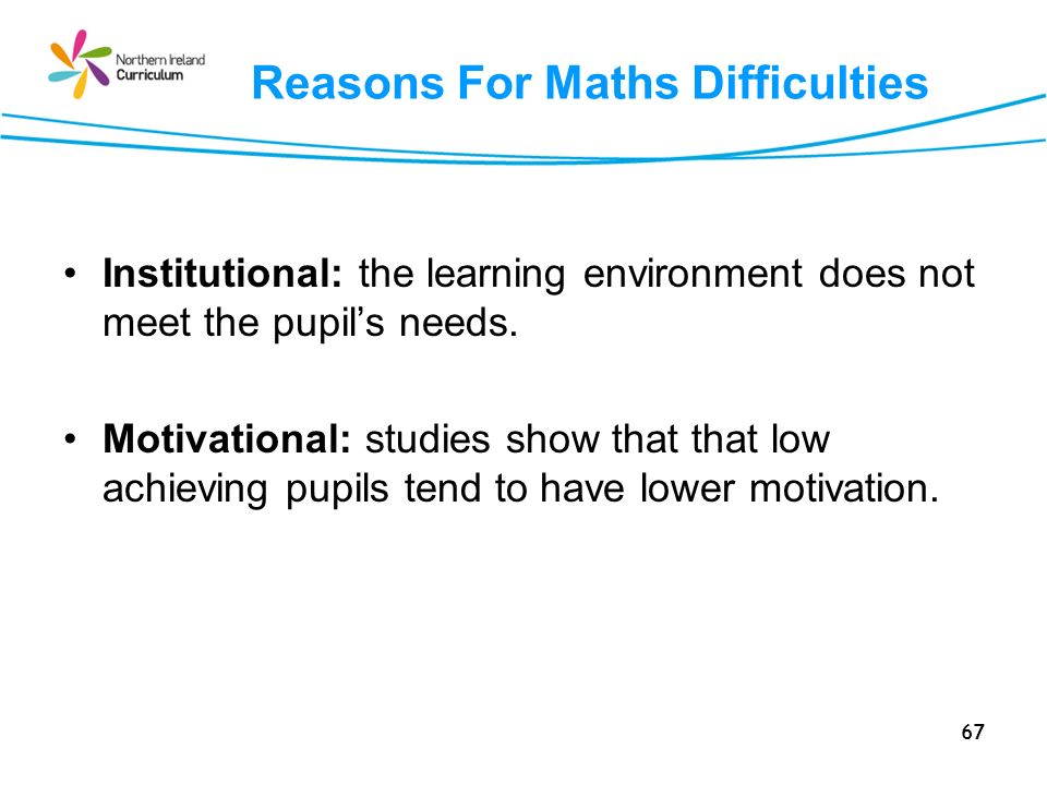 Reasons For Maths Difficulties