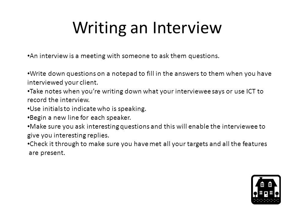 interview report writing