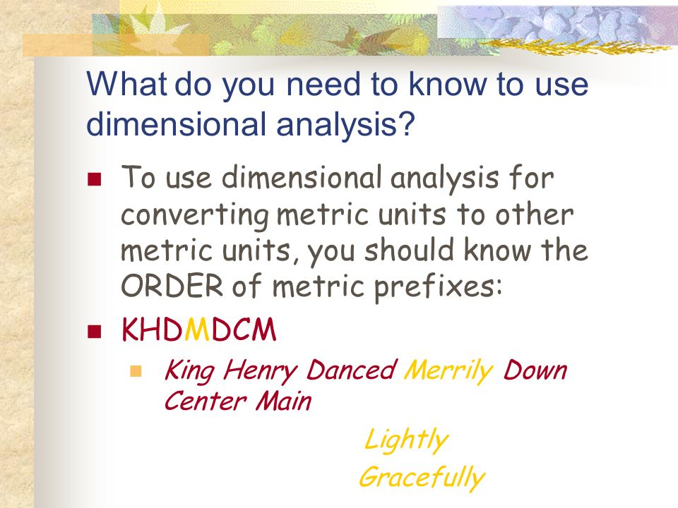 Metric System Conversion Chart Ppt Download