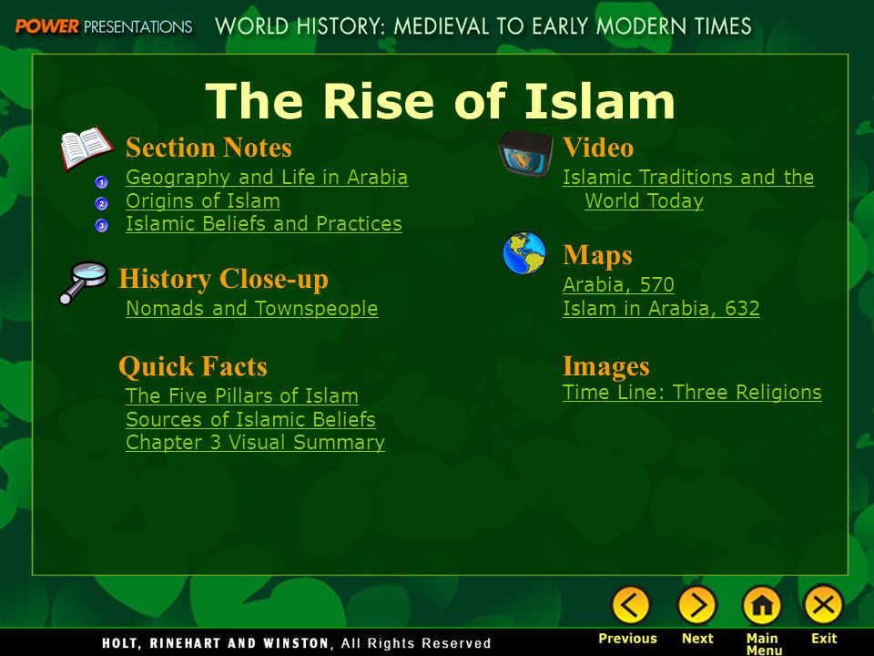 Internet ppt download the rise of islam section notes video maps history close up gumiabroncs Images