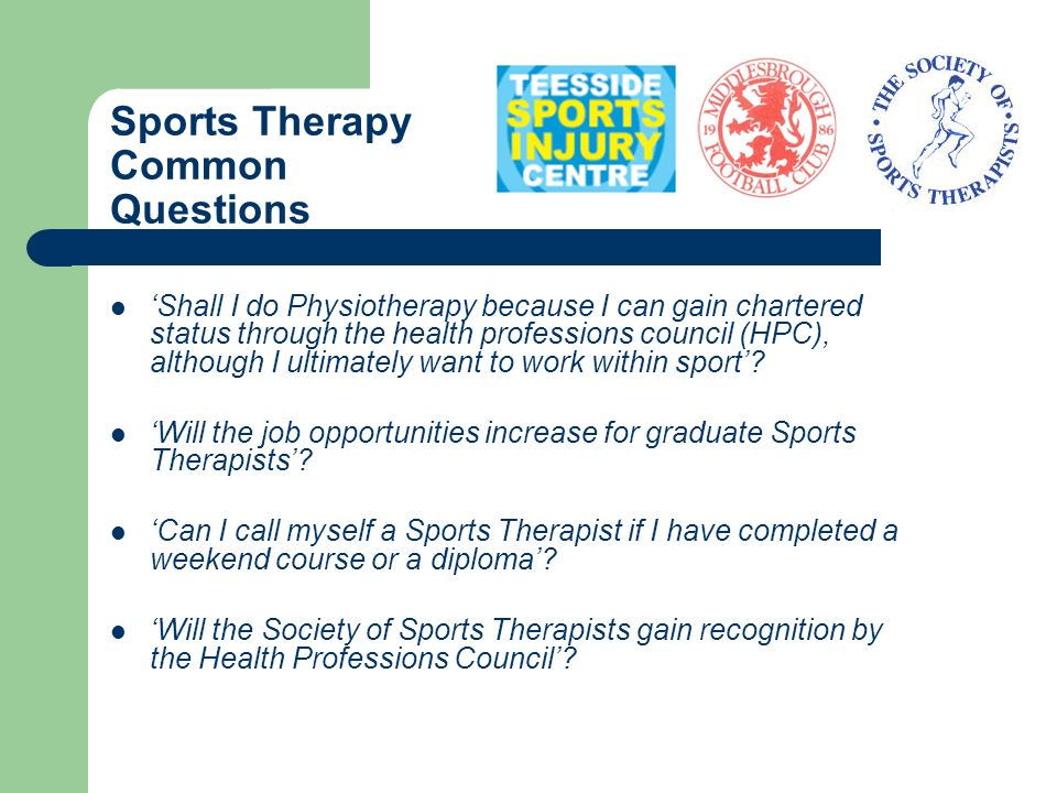 Sports Therapy Common Questions