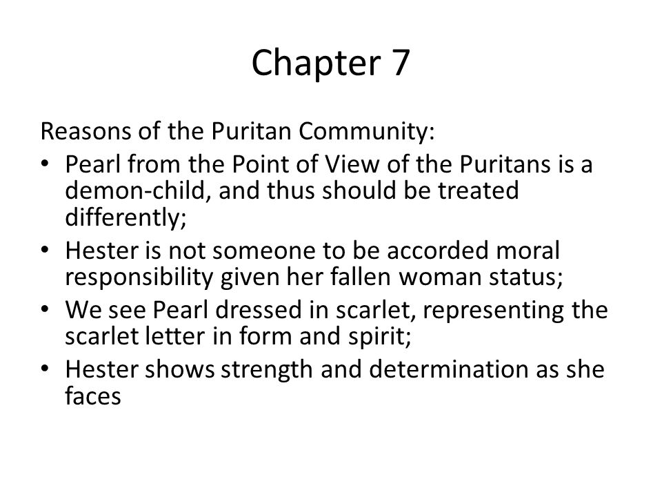 Scarlet Letter Chapters 5 to 8 ppt video online