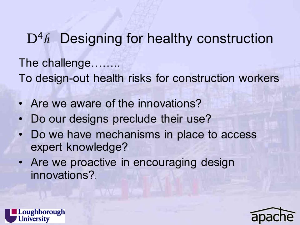 D4h Designing for healthy construction