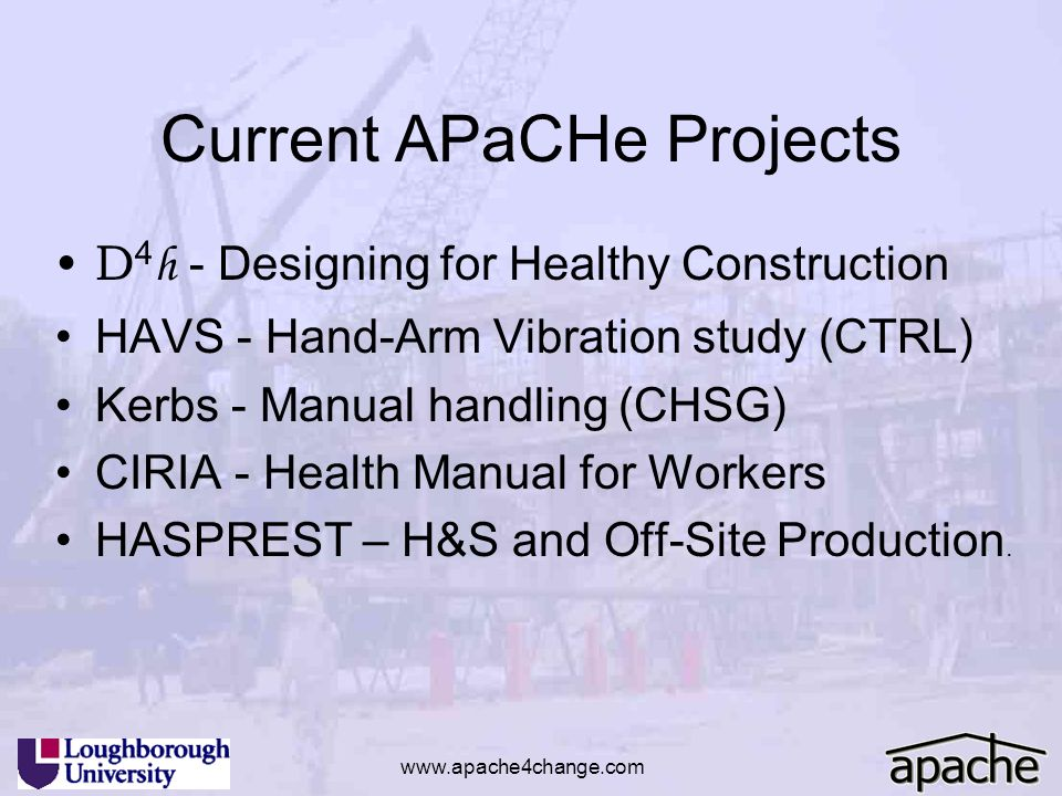 Current APaCHe Projects