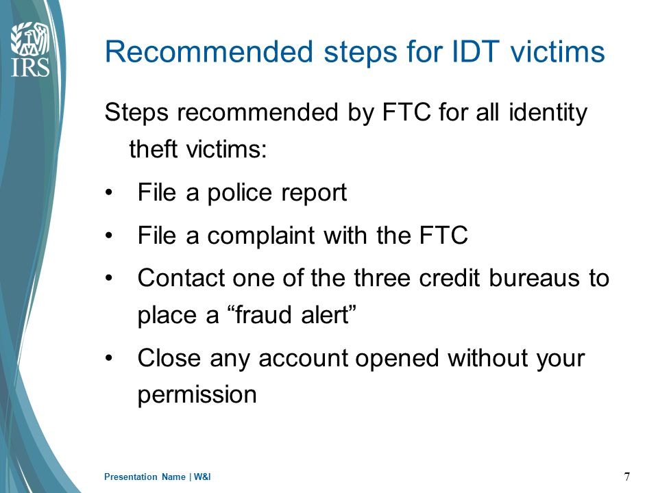 What Is Tax Related Identity Theft Ppt Download