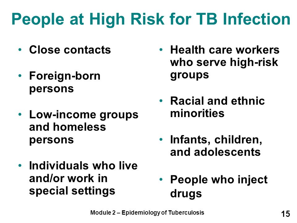 People at High Risk for TB Infection
