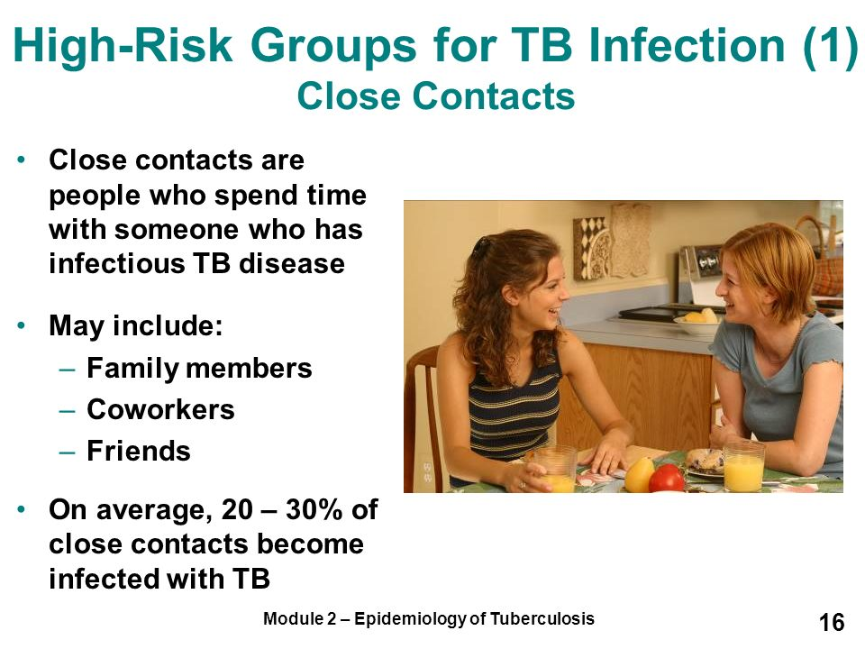 High-Risk Groups for TB Infection (1) Close Contacts