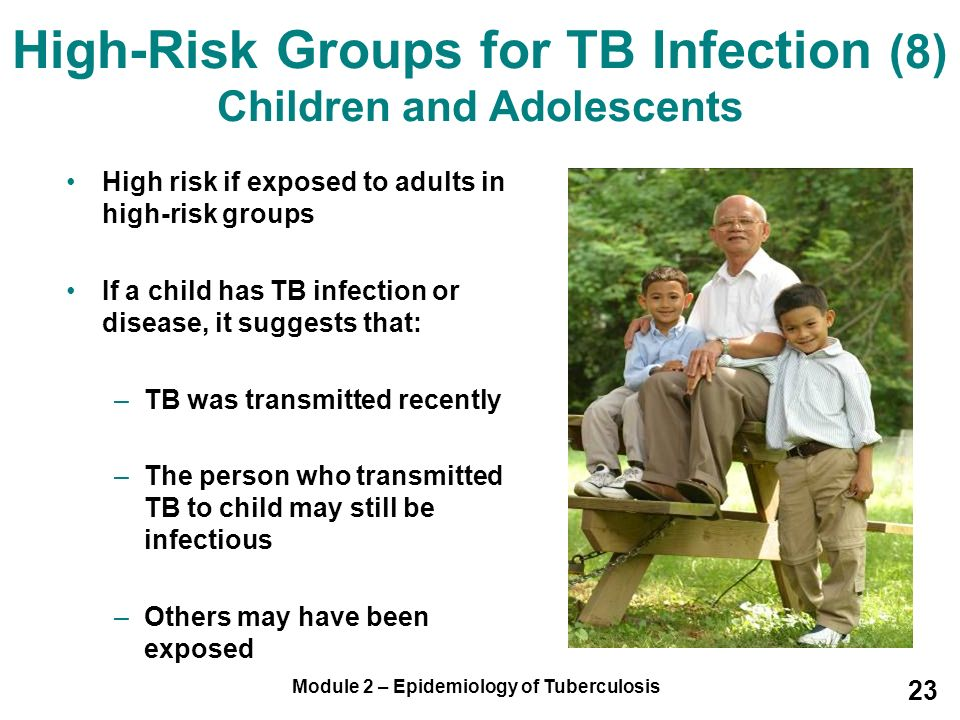 High-Risk Groups for TB Infection (8) Children and Adolescents