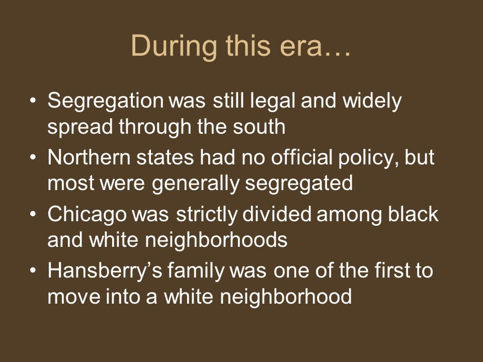 During this era… Segregation was still legal and widely spread through the south.