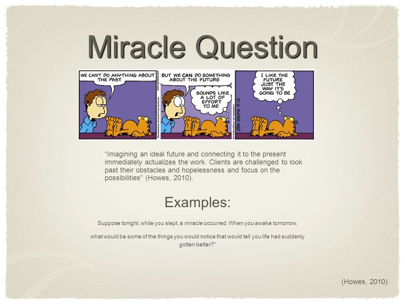 Miracle question in solution focused therapy